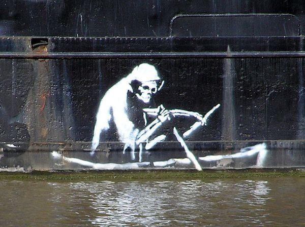 90 х бэнкси начал рисовать граффити