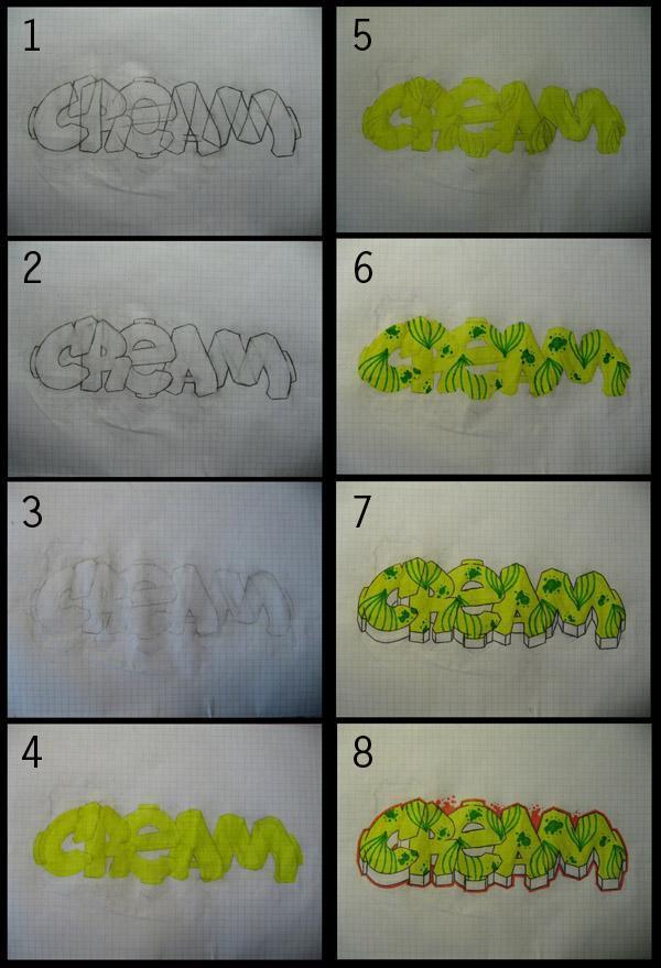 Рисуя граффити карандашом учись