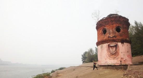 Необычные граффити