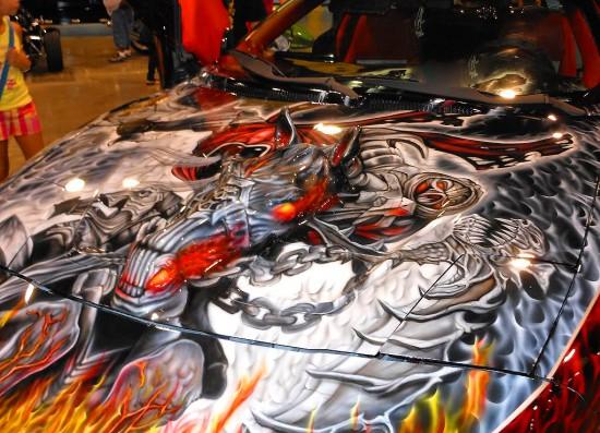 Аэрография, граффити на машинах