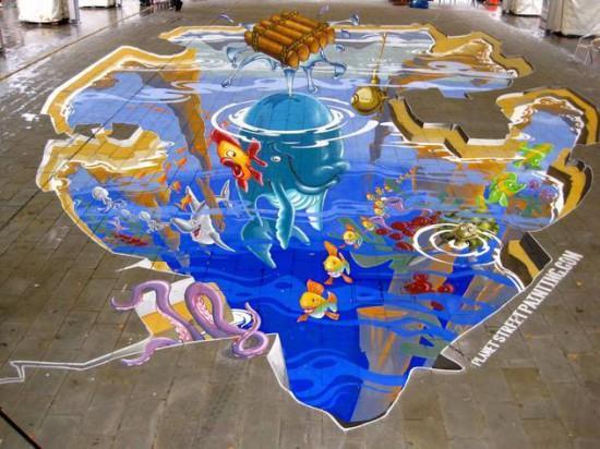 Граффити 3D стрит-арт
