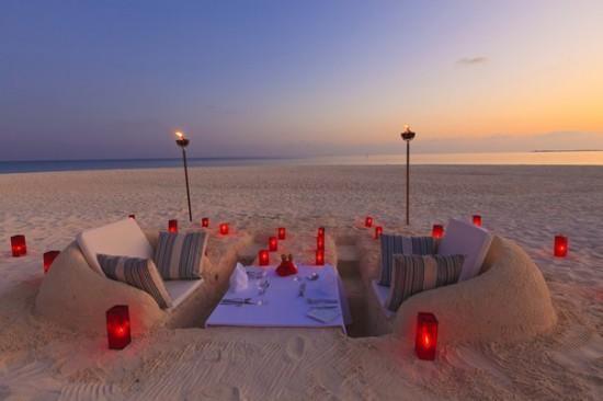 романтический вечер на пляже